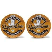 Dapper Dan Matt Styling Paste 2x100ml- Strong But Flexible Hold, Low Shine, Versatile Matt Styler, Mens Styling Products