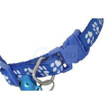 Small Adjustable Blue Dog or Cat Collar with Bell COL002