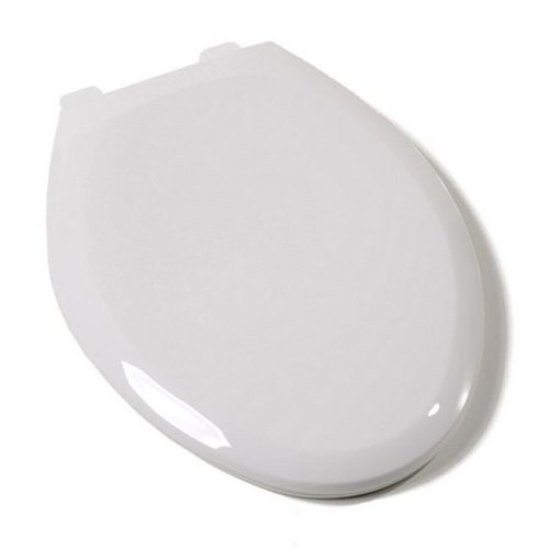 Slow Close Premium Plastic Elongated Toilet Seat, Cotton White