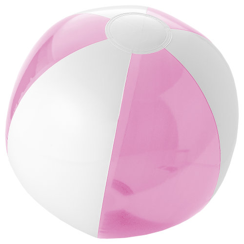 (One Size, Pink/White) Bullet Bondi Solid/Transparent Beach Ball