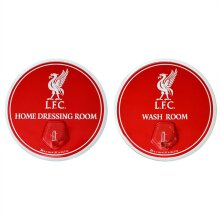 Liverpool FC Official Football Robe Hook Sign (Pack Of 2)