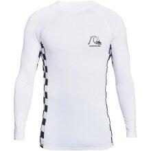 Quiksilver Mens Arch This Long Sleeve UPF 50 Rash Vest Guard - White