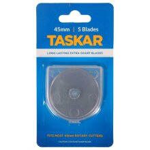 45mm Rotary Cutter Blades, 1, 5, 10 for Olfa/Fiskars by Taskar