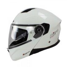 Nitro F350 Uno DVS Modular Flip Up Motorcycle Helmet Gloss White