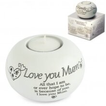 Said with Sentiment - Tealight Holder - Love You Mum