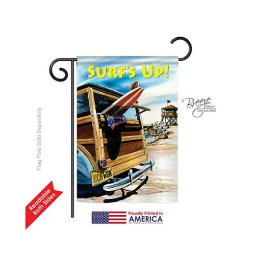 Breeze Decor 56068 Summer Beach Wagon 2-Sided Impression Garden Flag - 13 x 18.5 in.