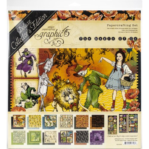"""Graphic 45 Deluxe Collector's Edition Pack 12""""X12""""-Magic Of Oz"""