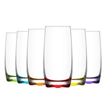 LAV Adora Highball Cocktail Glasses - 390ml - Rainbow - Pack of 12
