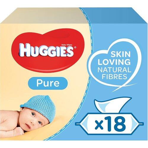 Huggies Baby Wipes, Pure, No. Packs (18 Packs, 1008 Wipes Total)