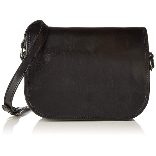 (Black) 26x21x12 cm - Leather Bag - made in Italy