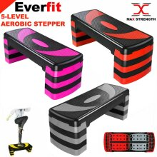 5 Levels Aerobic Stepper Adjustable Fitness Exercise Board Step Gym Platform