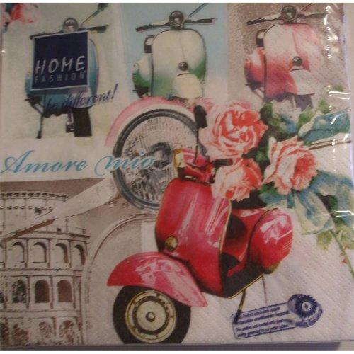 4 x Paper Napkins - Vintage Vespa - Ideal for Decoupage / Napkin Art