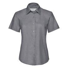 Russell Womens Oxford Short Sleeve Tailored Work Waitress Office Workwear Shirt
