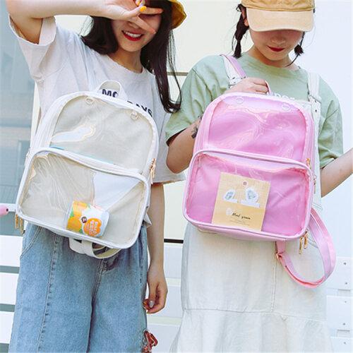 Women Clear Itabag Backpack Shoulders Bag Lolita