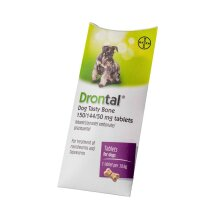 Drontal Tasty Bone Worming Wormer Tablet For Dogs X 1Pk
