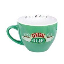 Friends Central Perk Green Cappuccino Mug with Stencil