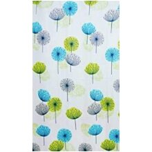 KAV Dandelion root design Fabric Bathroom Shower Curtain Dandelion Lime Green Blue (180 x 180)