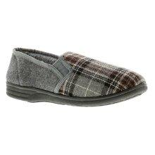 Knights Derek Mens Full Slippers Grey UK Size