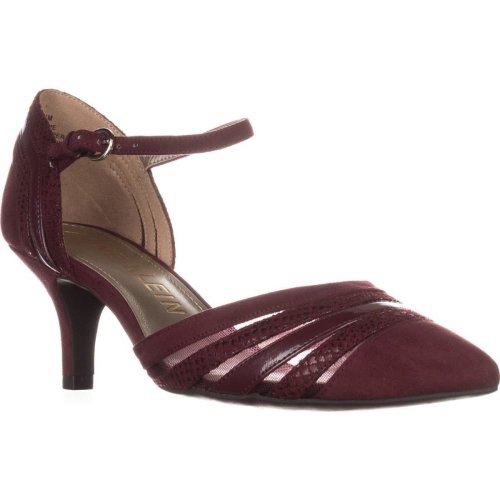 Anne Klein Fayme Mary Jane Kitten Heels, Wine Multi, 4 UK