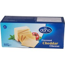 Dana Processed Cheddar Cheese Block 400g for Macaroni, Burgers