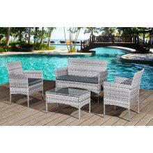 Garden Furniture Rattan Sofa Acorn Four-seater Lounge set