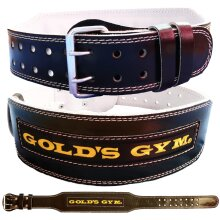 Golds Gym Weight Lifting Belt Leather Lumbar Support
