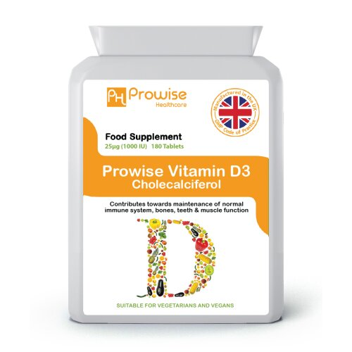 Prowise Vitamin D 180 Tablets 1000iu UK Made
