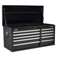 Sealey AP41110B 10 Drawer Topchest with Ball Bearing Runners Heavy-Duty - Black