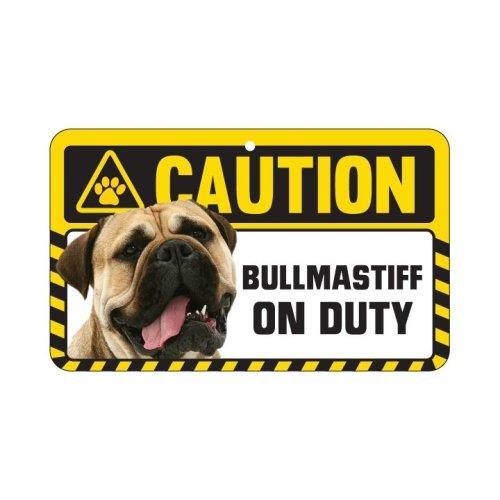 Bullmastiff Caution Sign