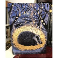 Solstice Dreamer Greetings card by Hannah Willow