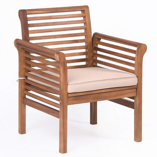 Plant Theatre Hardwood Garden Armchair With Cushion