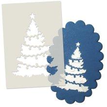 Christmas Tree Cake Stencil