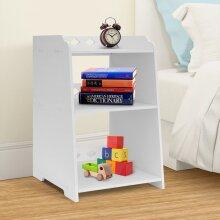 Modern Bedside Table Cabinet Side Table Storage Organizer White