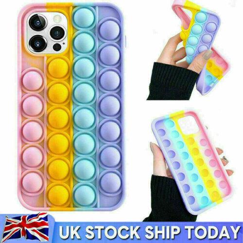 Pop Fidget Push Bubble Toys Phone Cover Case For iPhone