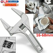 6-68mm Adjustable Wrenches Open-End Wide Jaw Spanners Plumber Bathroom