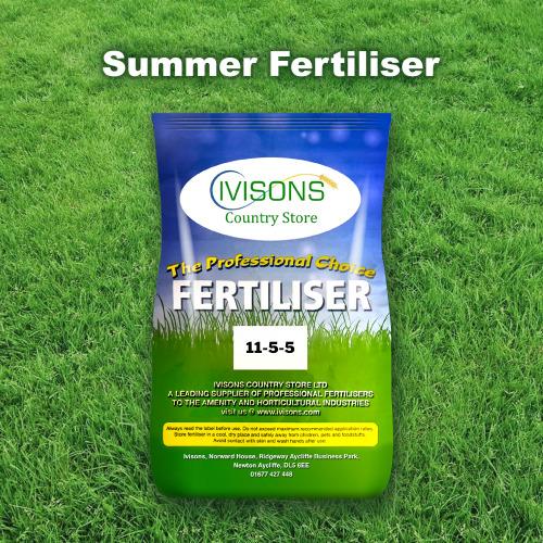 Ivisons Summer Lawn Feed Fertiliser NPK 11-5-5