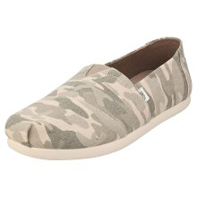 Toms Alpargata Mens Slip On Shoes in Camouflage