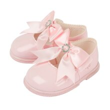 Baypods Baby Girls First Walker Shoes in Soft Pink Patent