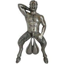 Door Knockers, Funny Naked Muscle Men Creative Resin Doorbell Decoration Modern Sculpture Door Ring Ornaments