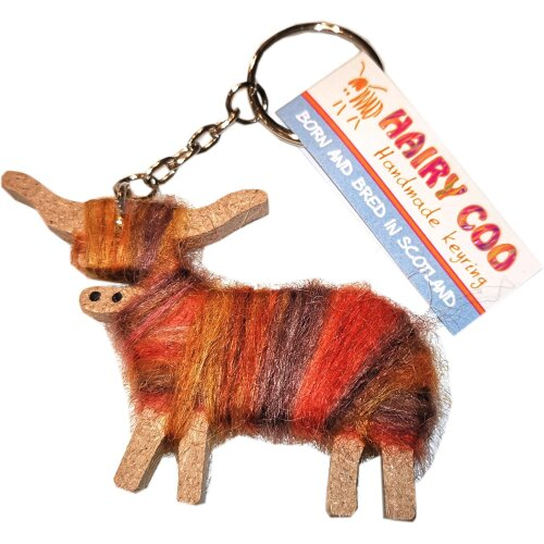 Highland Cow Cameron Key Ring by Hairy Coo