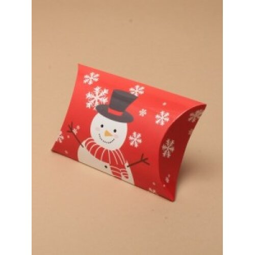 (Snowman, 6.8x6.8x2.5 cms) Christmas Gift Box Pillow Pack Bag Present Wrapping Gift Wrap