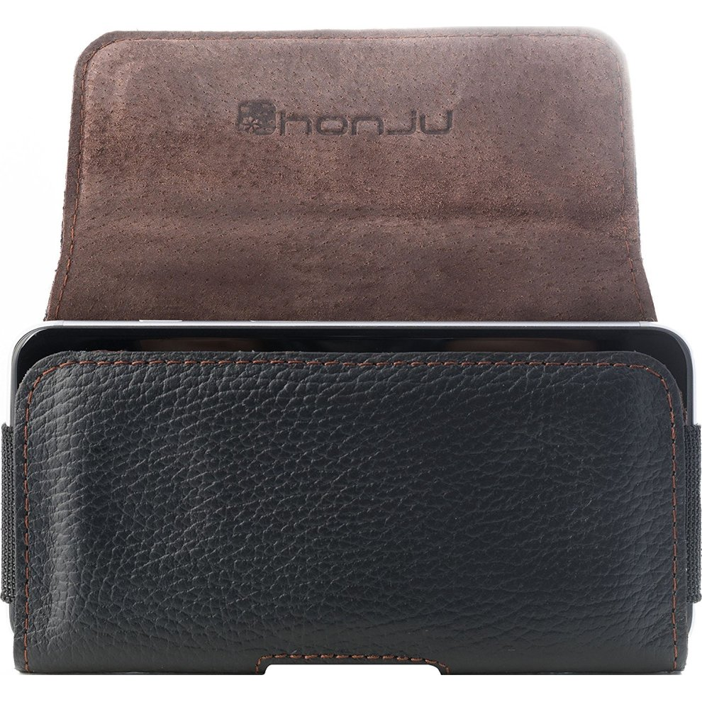 honju Belt Clip Holder Case Horizontal Real Leather Pouch Holster For Apple iPhone XS//X HHAPPLE 8//8 Plus 7//7 Plus 6S//6S Plus 6//6 Plus