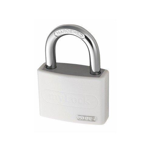 ABUS KA49947 T65AL/40 40mm My Lock Aluminium Padlock White Body Keyed 6401