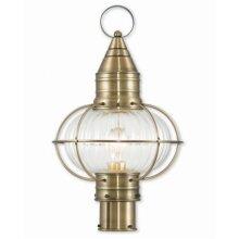 Newburyport 27005-01 Antique Brass Post Lantern, 19.75 in.