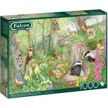 Jumbo Falcon Deluxe 1000 Piece Jigsaw - Woodland Wildlife