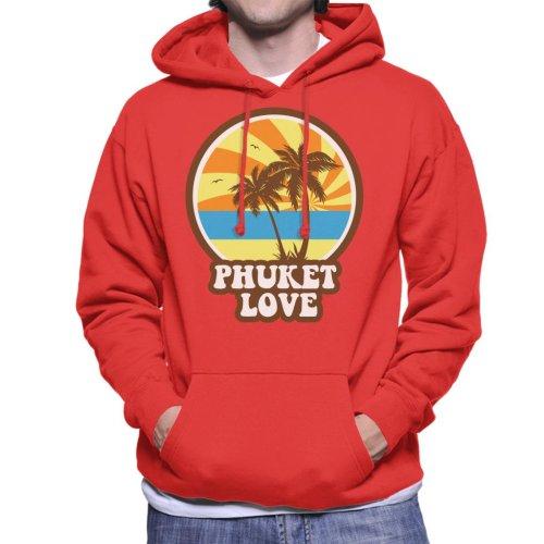 Phuket Love Retro Men's Hooded Sweatshirt