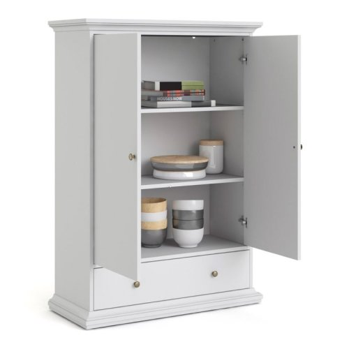 White Larder Pantry Linen Cupboard Storage Cabinet Housekeepers Unit Kitchen