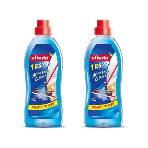 Vileda 1-2 Spray Floor Cleaning Liquid, 750 ml,Transparent,Pack of 2