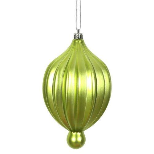 Vickerman N174673D 6.3 x 3.5 in. Lime Matte Lantern Ornament - 4 per Bag