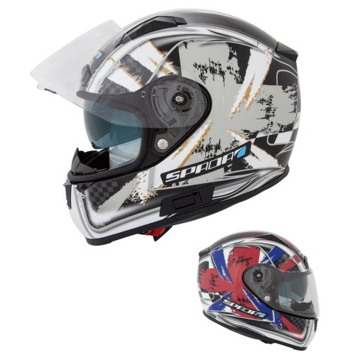Spada Arc Patriot Motorcycle Helmet Inc Sun Visor